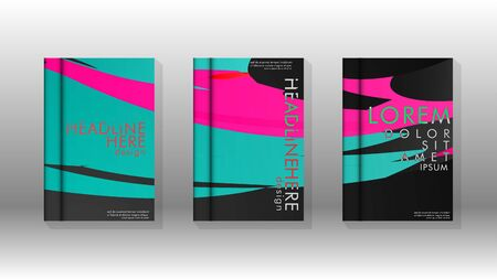 Cover book with a geometric design background. Valid for banners, placards, leaflets, poster designs, etc. Eps10 vector template