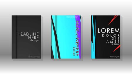 Book Cover colorful geometric backgrounds. Simple form composition.