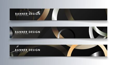 Set rectangular banner with a circle background. neutral color gradient