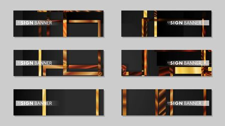 square banner vector collection. wood gradient color composition