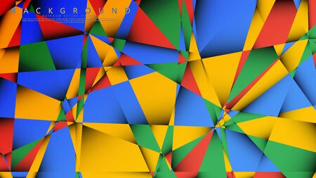 Background Vector of a Triangle with a combination of red yellow and green. Geometric illustration style with gradients and transparency.