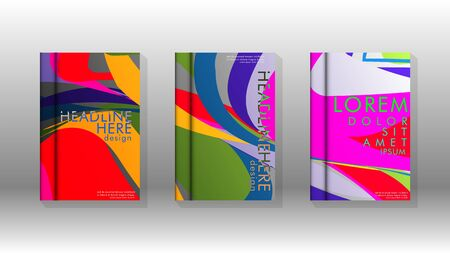 Abstract cover with wave elements. book design concept. Futuristic business layout. Digital poster template. Design Vector