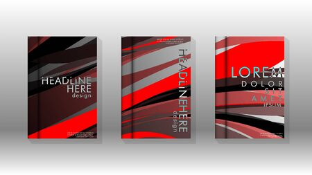 Abstract cover with wave elements. book design concept. Futuristic business layout. Digital poster template. Design Vector -