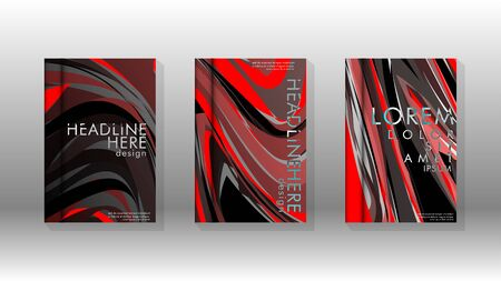 Abstract cover with wave elements. book design concept. Futuristic business layout. Digital poster template. Design Vector - Vetores