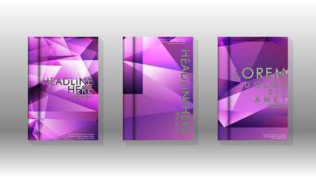 Abstract colorful and triangular background. book design concept. Futuristic business layout.