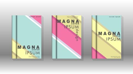 Cover book concept abstract geometric background with a combination of colors and shapes  イラスト・ベクター素材