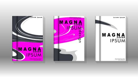 Abstract cover with liquid elements. book design concept. Futuristic business layout. Digital poster template.  イラスト・ベクター素材