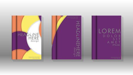 Abstract low circle shape background for corporate business annual report book cover brochure flyer poster.