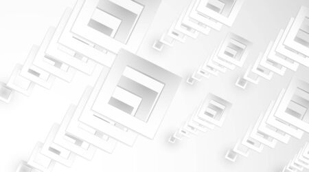 White vector grid lines stack from small to large. illustrative perspective
