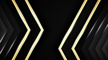 Dark abstract background vector with gold and luster. Vector illustration of EPS 10