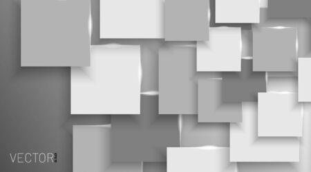 Vector white box Abstract background Gray blank. EPS 10  イラスト・ベクター素材