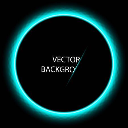 Dark dark blue abstract circle technology background.