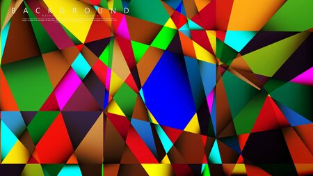 Light Multicolor Rainbow vector background mosaic triangle. Geometric illustration style with gradients and transparency. Triangle pattern design