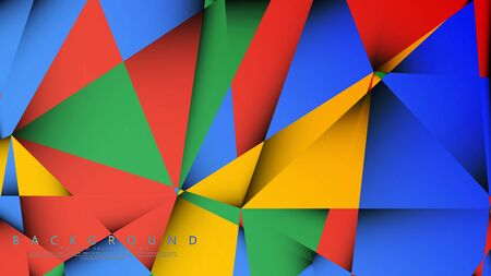 Background Vector of a Triangle with a combination of red yellow and green. Geometric illustration style with gradients and transparency. 写真素材