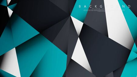 Vector Background Triangle Mosaic with a combination of blue, gray and white. Geometric illustration style with gradients and transparency.