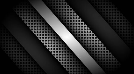 Vector background of lines with dark overlapping black circle textures  イラスト・ベクター素材