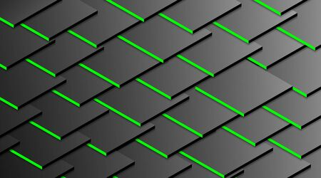 Vector image of green shadow from a stacked cube background