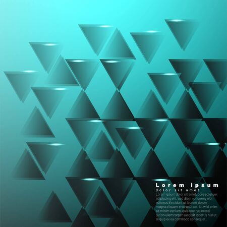 Geometric abstract background with triangles. Vector illustration  イラスト・ベクター素材