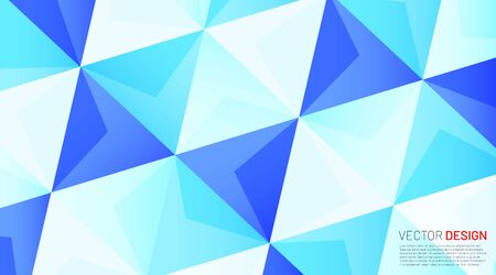 Geometric triangle vector background in blue
