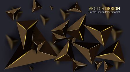 Abstract vector background with golden light and blurred shadow