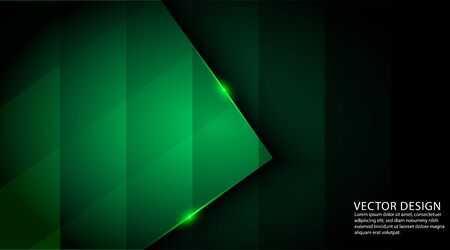 Dark green color abstract geometric background  イラスト・ベクター素材