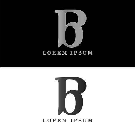 B logo initial letter design template vector  イラスト・ベクター素材