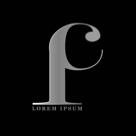 I C letter logo template vector illustration graphic design