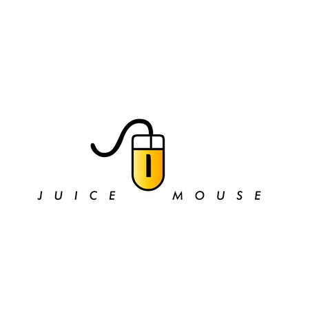 abstract logo template, icon juice mouse , vector graphic design illustrations Ilustracja