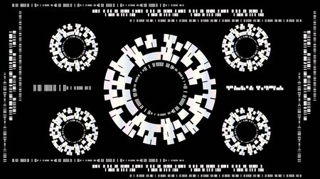 Abstract technology concept background, vector illustration Фото со стока - 132099209