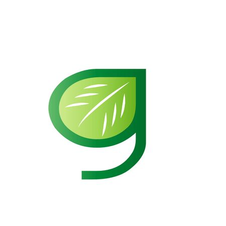 Eco Natural Letter Initial G Design Template