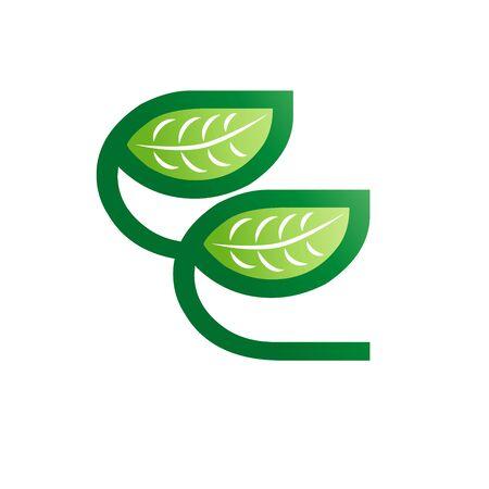 Eco Natural Letter Initial E Design Template Stok Fotoğraf - 132311950
