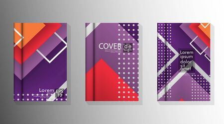 The Cover Book is arranged with memphis and hipster style graphic geometric elements. Valid for placards, brochures, posters, covers and banners.