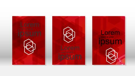 Abstract vectors with hexagon backgrounds for presentations, banners, brochures, book pages, and more