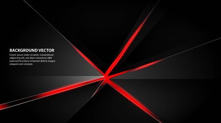 abstract metallic red black frame design layout concept innovation technology background Иллюстрация