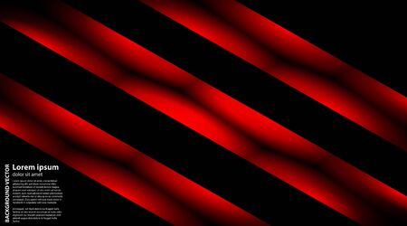 Vector abstract geometric background . line red black with dark black color