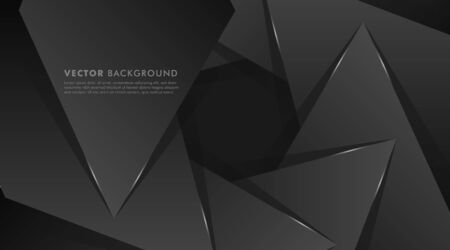 Abstract Vector Background. circular black triangle shape