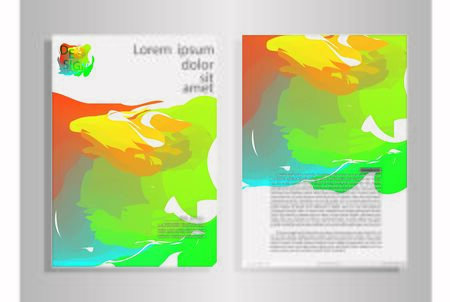 Abstract vector modern flyers brochure , annual report ,design templates . stationery with white background in size a4 - Vector