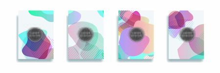 Dynamic style banner design set with fluid gradient elements. Creative illustration for poster, web, landing, page, cover, ad, greeting, card, social media, promotion. Иллюстрация