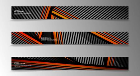 collection vector banners. abstract striped background with white and orange colors. web design, presentation, advertising, etc.