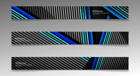 collection vector banners. abstract striped background with white and blue colors. web design, presentation, advertising, etc.
