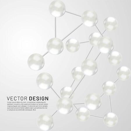 Abstract molecules design. Vector illustration in eps 10 Ilustração