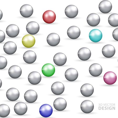 Abstract background design template. 3D sphere ball.
