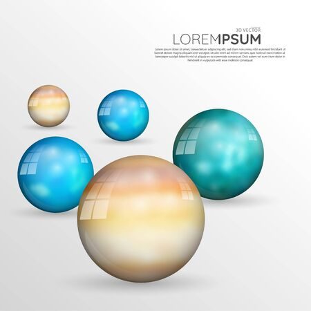 Abstract background design template. 3D sphere ball. vector design illustrator eps 10