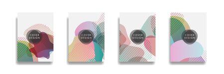 Dynamic style banner design set with fluid orange gradient elements