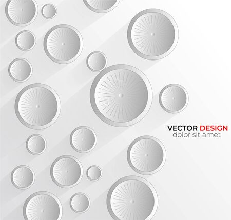 Abstract 3D white circle abstract background design. vector in eps 10