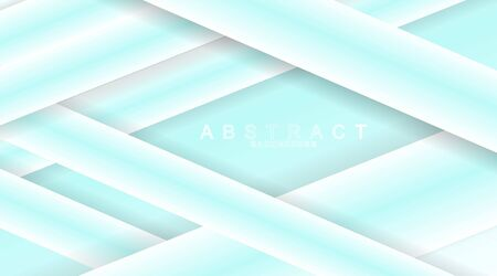 Background blue and white gradient paper cut . Decorative abstract pieces of textured paper with layers. Vector illustration. Minimalist design concepts