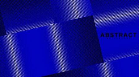 abstract vector background. overlapping line patterns in blue and white light. illustration of a dark glowing vector design