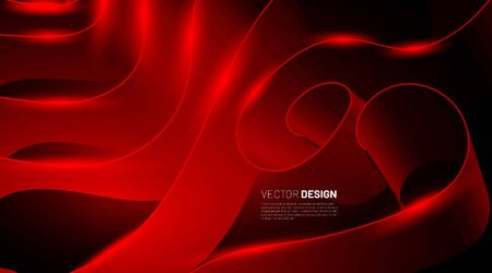 Red Ribbon Abstract background. Graphics for business presentations or web design. Vector illustration
