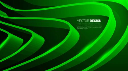 Green Ribbon Abstract background. Graphics for business presentations or web design. Vector illustration
