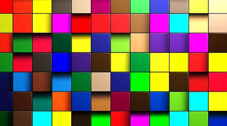 abstract vector background of multi-colored cubes Illustration